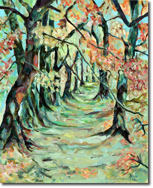 Chemin d'automne - Germaine Rees - REES G.